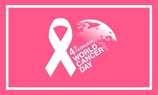 世界の癌の日2月4日の背景。