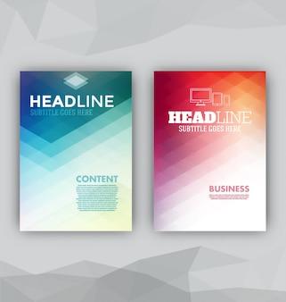 2 abstract brochures
