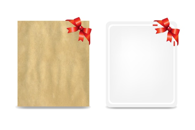 2 blank gift tags with gradient mesh