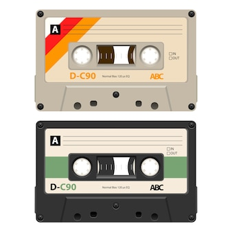 2 cassettes with retro label as vintage.