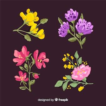 現実的な2 dの花の花束