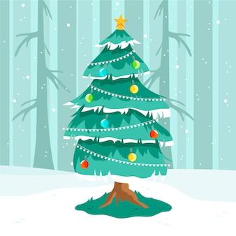 カラフルな2 dクリスマスツリー