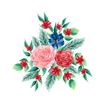 カラフルな2 dの花の花束