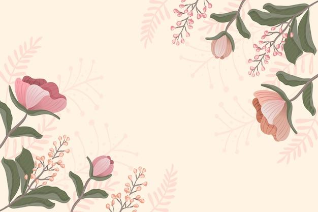 2 dのビンテージ花の背景