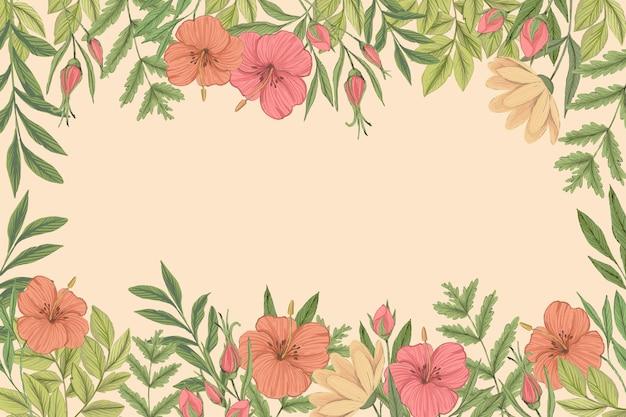 2 dのヴィンテージの花の背景