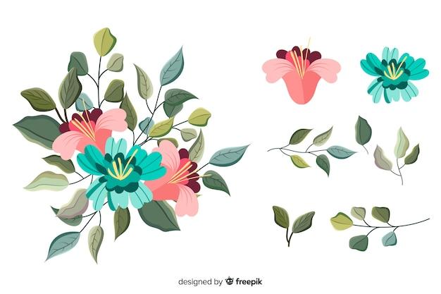 2 dの花の花束イラスト