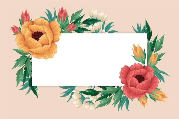 ビンテージ2 d花の背景