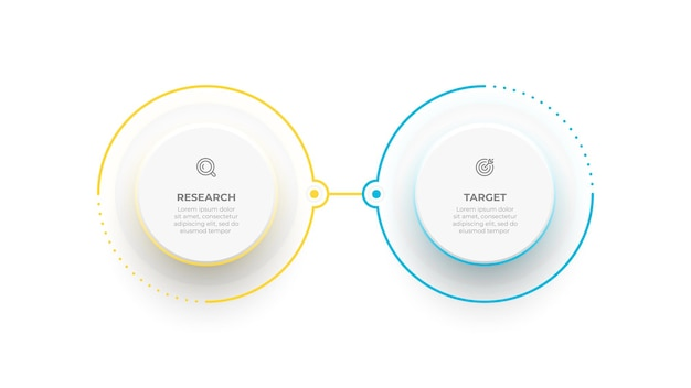 プレゼンテーションレイアウトの2つのオプション情報グラフィック