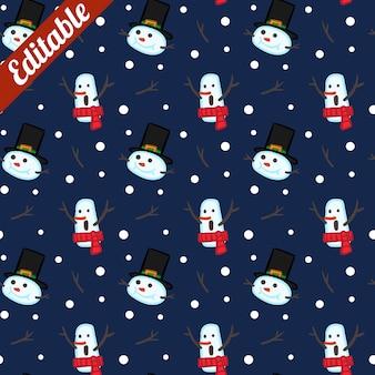 2 snowman pattern