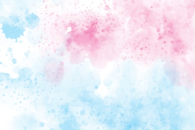 2 tones blue and pink watercolor wash splash background