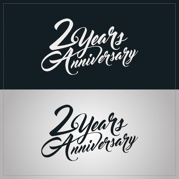 2 years anniversary celebration logotype