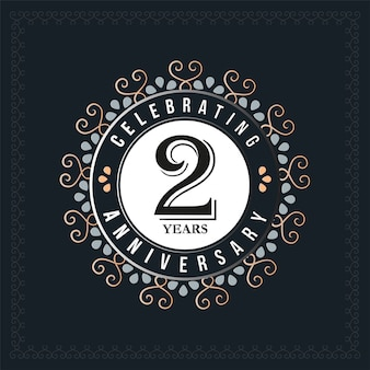 2 years anniversary design template