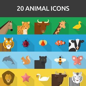 20動物のアイコン