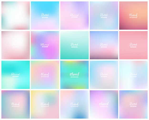 20 blurred abstract background