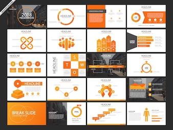 20 Bundle orange presentation slides