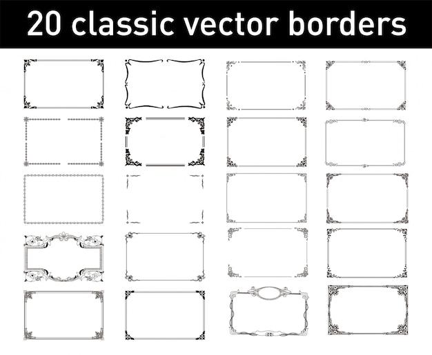 20 classic vector borders
