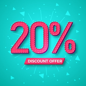 20% discount offer label background
