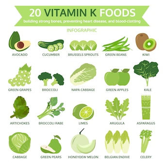 20 vitamin k foods icons