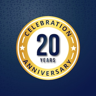 20 years of celebrations vector Free Vector