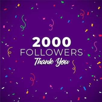 2000 followers network of social media