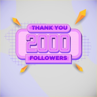2000 followers square banner modern look