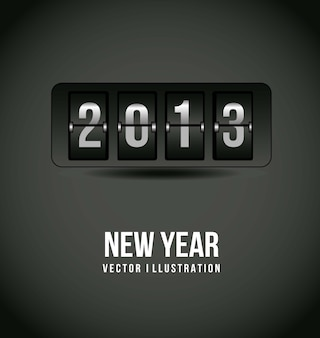 2013 new year over gray background vector illustration