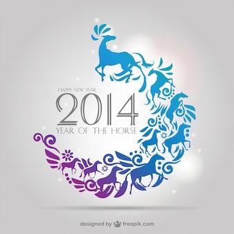 2014 horse year vector