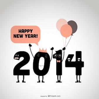 2014 anno nuovo disegno felice
