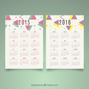 2015 2016 abstract decoration calendars