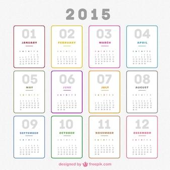 無地2015カレンダー