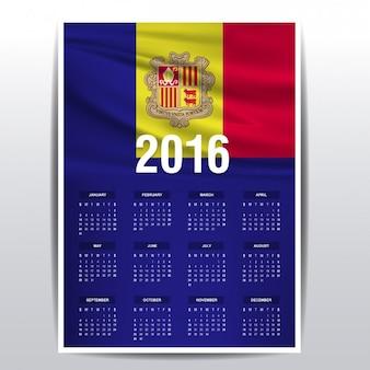 2016 calendar of andorra