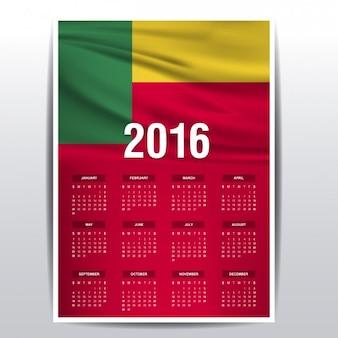 2016 del calendario del benin