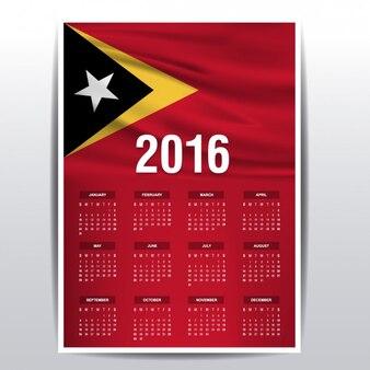 2016 calendar of east timor