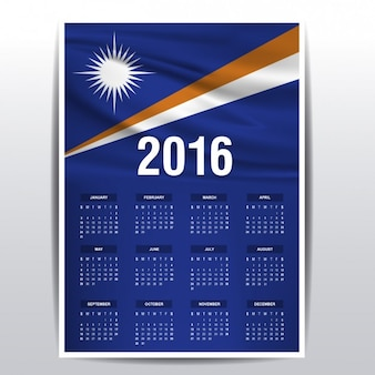 2016 calendar of the marshall islands