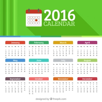 2016 calendar Premium Vector