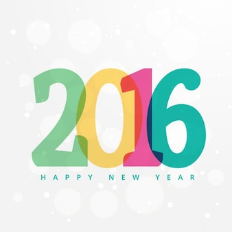 2016 colorful greeting card