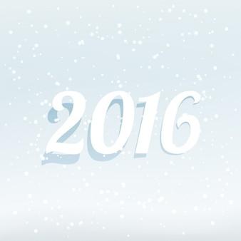 컬러 화이트 2016 새해 카드
