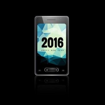 Новый год 2016 мобильный телефон фона экрана