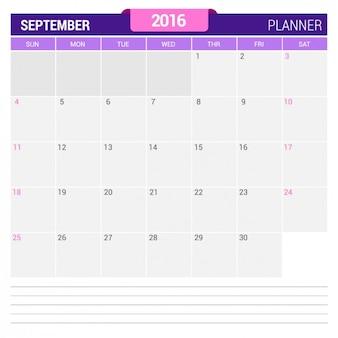 Сентябрь календарь 2016