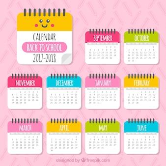 美しい2017-2018カレンダー