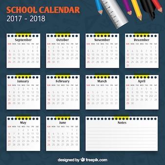 学校のカレンダー2017-2018
