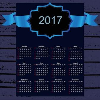 2017年のカレンダーのデザイン