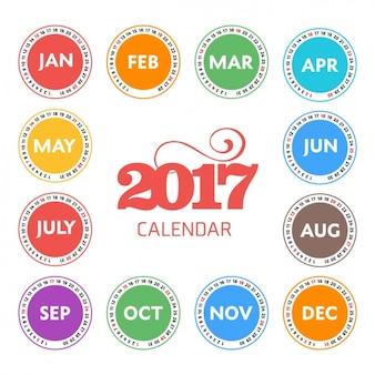 2017 calendar design