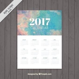 2017 календарь в абстрактные конструкции с спиралей чертежами