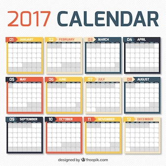 2017 calendar in simple design
