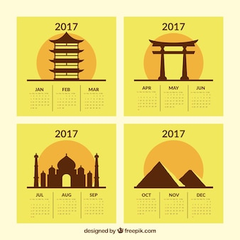 2017 calendar of monuments