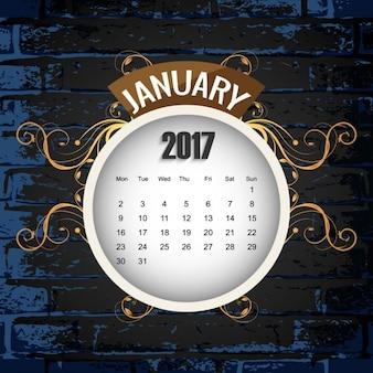 美しい2017年カレンダーの背景