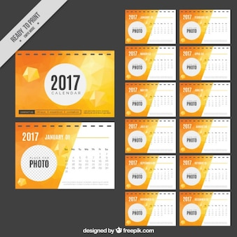 抽象的な2017カレンダー