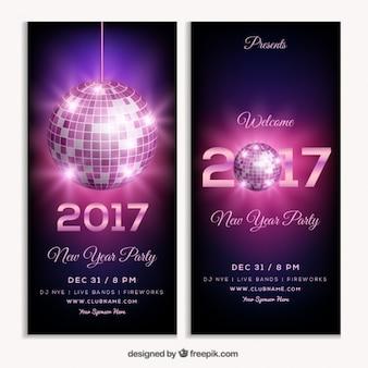 2017年新年のパーティーのためにクラブチラシ
