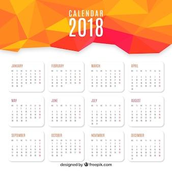 2018 абстрактный календарь